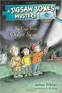 I'll be featuring my new Jigsaw Jones book: THE CASE FROM OUTER SPACE, and many others.