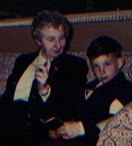 Grandma Bridgie & me. We called her Granny Good Witch. And she always had butterscotch.