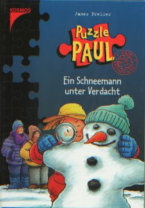 Jigsaw Jones -- I mean, Puzzle Paul --searches for a valuable coin in the German translation of The Case of the Christmas Snowman.