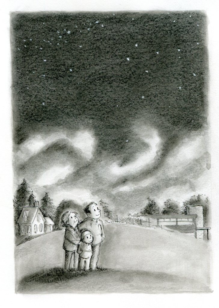Illustration by R.W. Alley, from the upcoming Jigsaw Jones book, THE CASE FROM OUTER SPACE.
