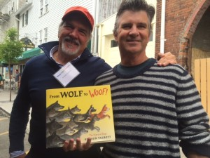Hudson (left) and I got to catch up at the Warwick Children's Book Festival.