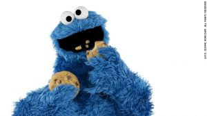 Cookie Monster, during happier times.