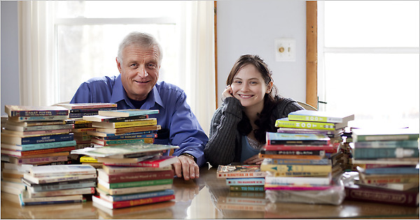 "The article was published in March 2010, written by Michael Winerip, titled ""Father and Daughter Bond By Years of Reading."" The daughter, Alice Ozma, eventually wrote a book about it, THE READING PROMISE: MY FATHER, AND THE BOOKS WE SHARED."