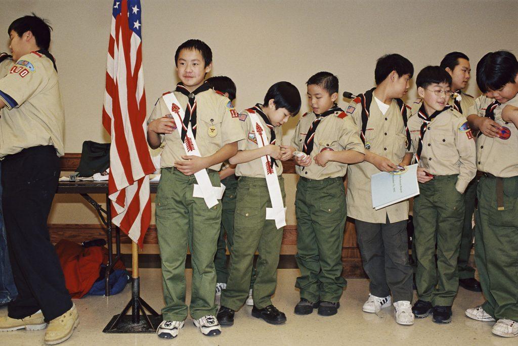 Hmong boy scouts