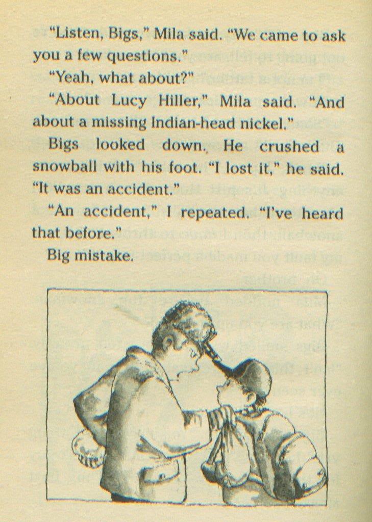 A favorite moment from the series, when Jigsaw goes toe-to-toe with Bigs Maloney. Illustration drawn by R.W. Alley.