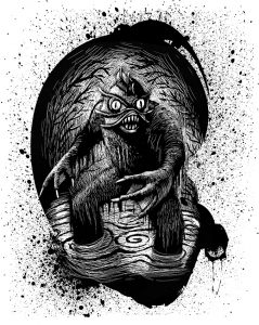 "Illustration by Iacopo Bruno from ""Scary Tales: Swamp Monster."""